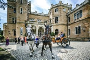 Heiraten mit Hochzeitskutsche auf Schloss Eckberg in Dresden